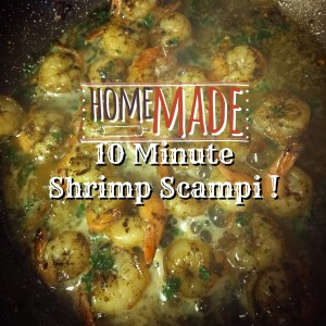 Homemade shrimp scampi you can make in 10 minutes!